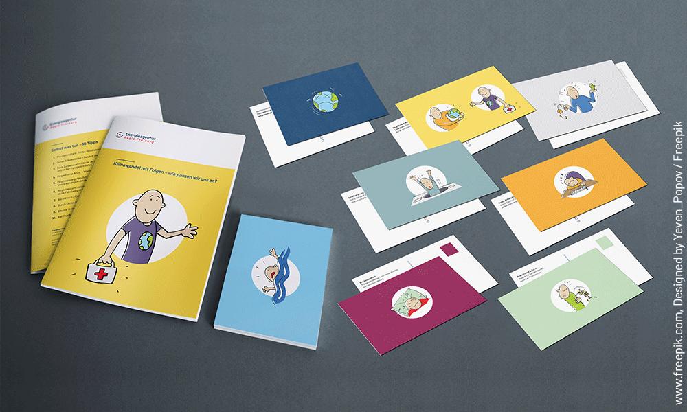 Klimaanpassung-Ausstellung-Broschuere-postkarten