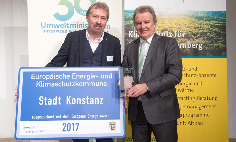Europäische Energie- und Klimaschutzkommune Auszeichnung Stadt Konstanz 2017