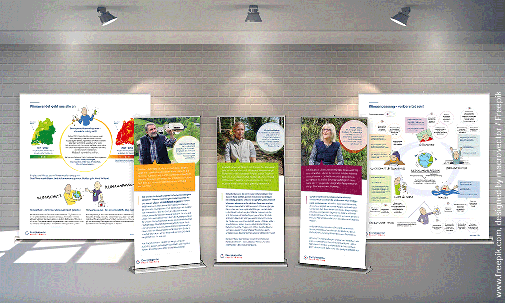 Klimaanpassungsausstellung der Energieagentur Regio Freiburg